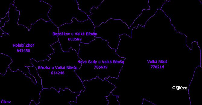Katastrální mapa Nové Sady