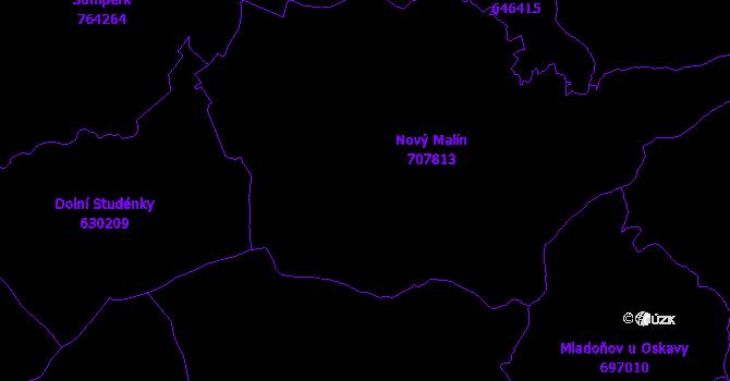 Katastrální mapa Nový Malín