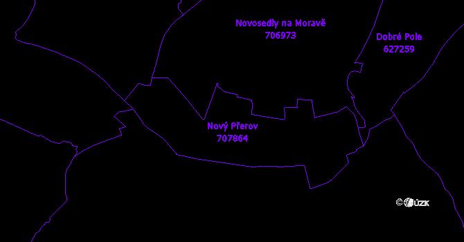 Katastrální mapa Nový Přerov
