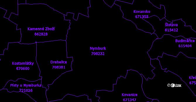 Katastrální mapa Nymburk