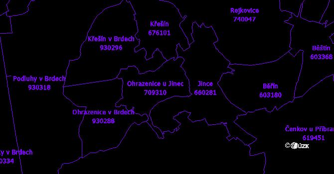 Katastrální mapa Ohrazenice