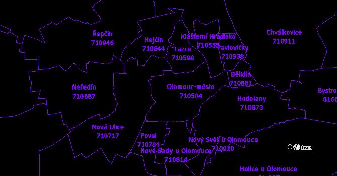 Katastrální mapa Olomouc