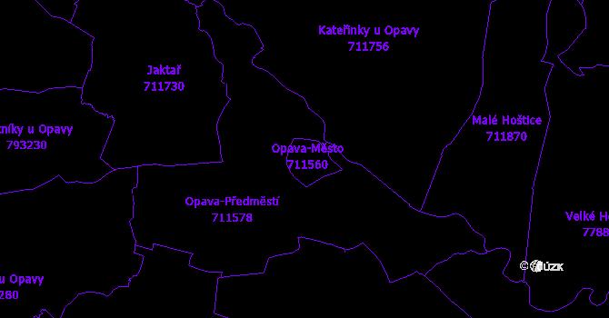 Katastrální mapa Opava