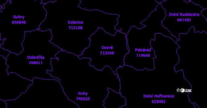 Katastrální mapa Osové