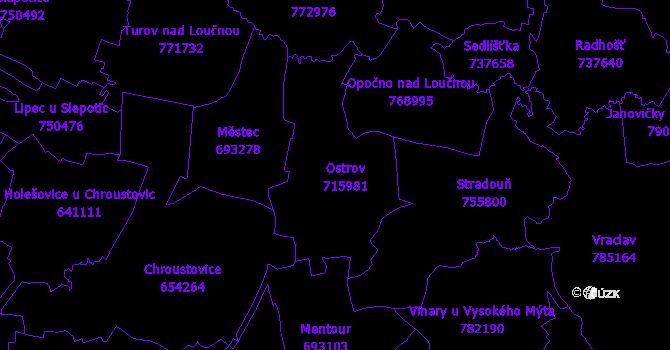 Katastrální mapa Ostrov