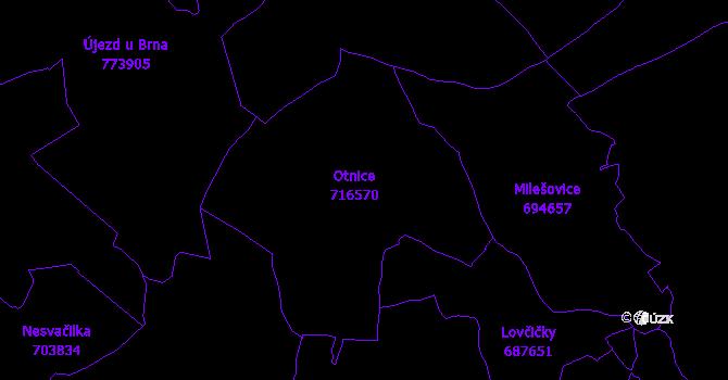 Katastrální mapa Otnice
