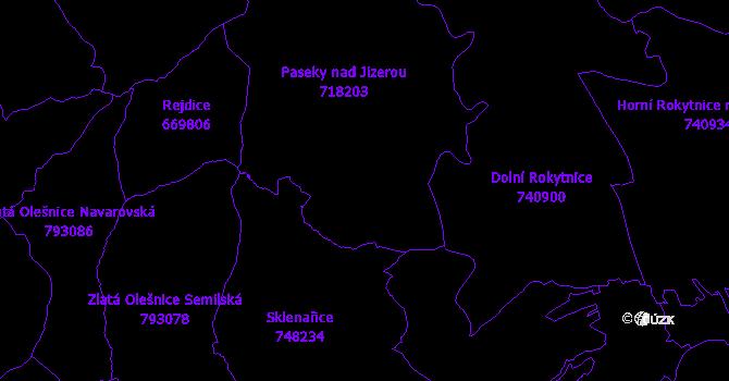 Katastrální mapa Paseky nad Jizerou