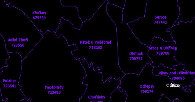 Katastrální mapa Pátek