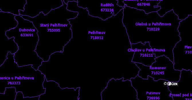 Katastrální mapa Pelhřimov