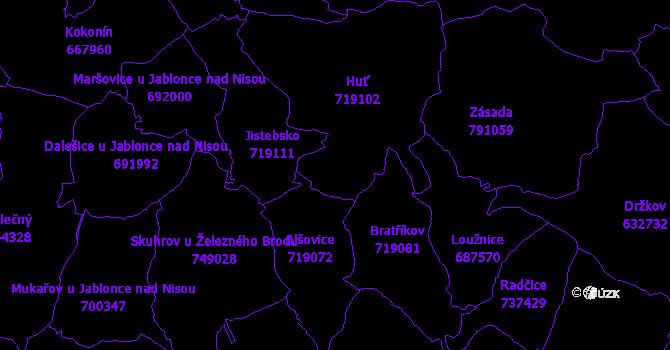 Katastrální mapa Pěnčín