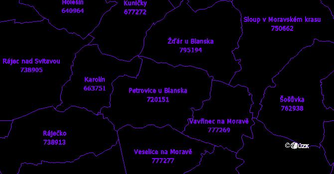Katastrální mapa Petrovice