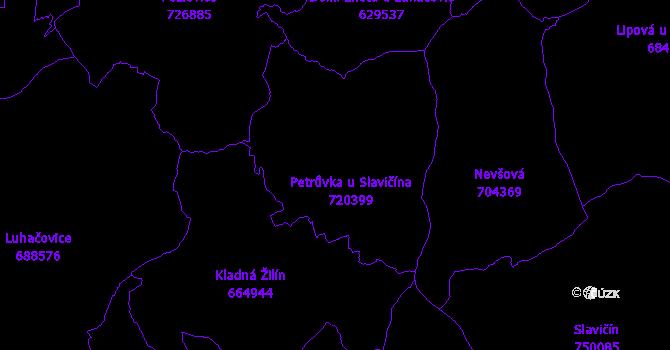 Katastrální mapa Petrůvka