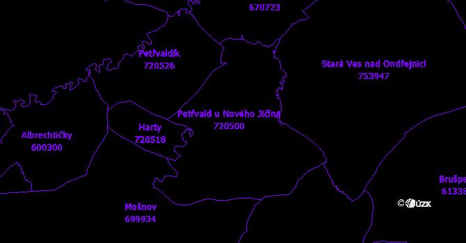 Katastrální mapa Petřvald