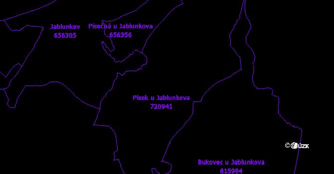 Katastrální mapa Písek