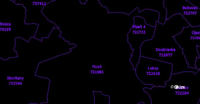 Katastrální mapa Plzeň