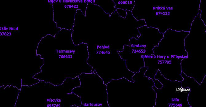 Katastrální mapa Pohled