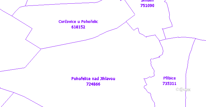 Katastrální mapa Pohořelice