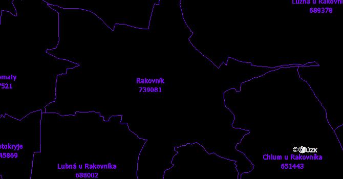 Katastrální mapa Rakovník