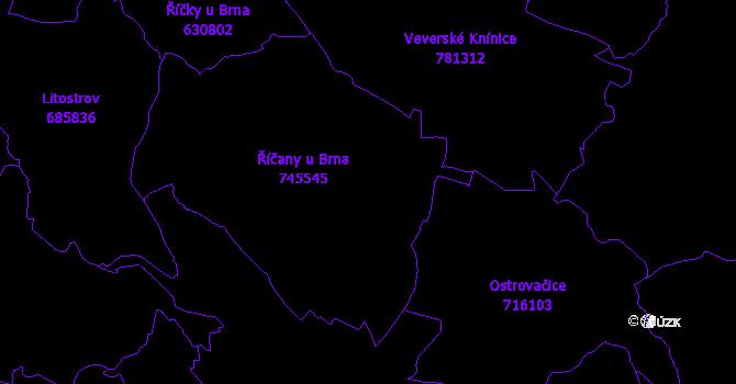 Katastrální mapa Říčany