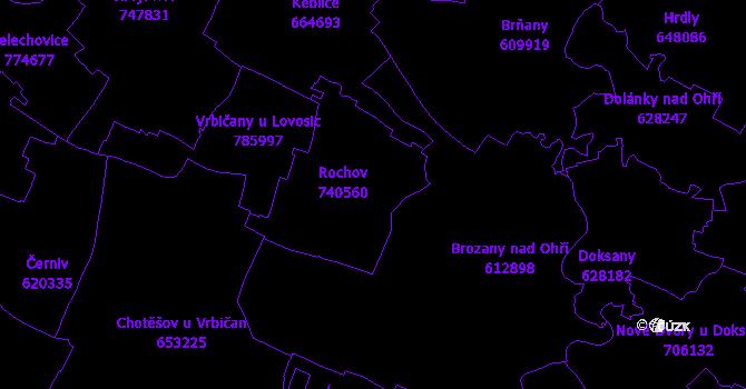 Katastrální mapa Rochov