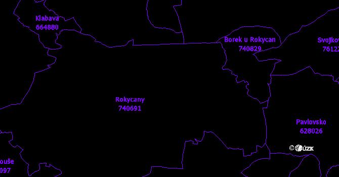 Katastrální mapa Rokycany