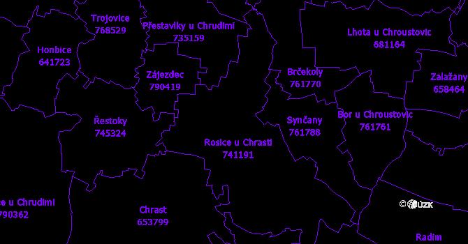 Katastrální mapa Rosice