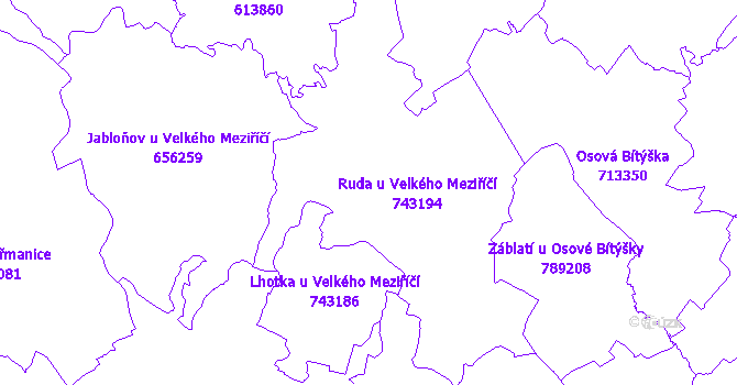 Katastrální mapa Ruda
