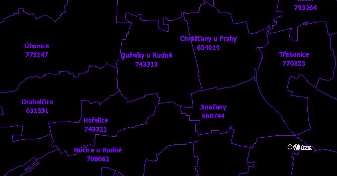 Katastrální mapa Rudná