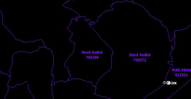Katastrální mapa Rudná pod Pradědem