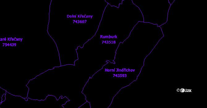 Katastrální mapa Rumburk