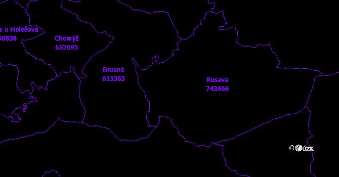 Katastrální mapa Rusava