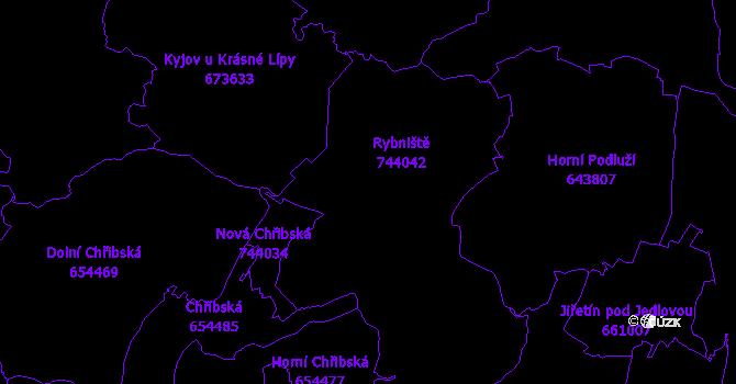 Katastrální mapa Rybniště
