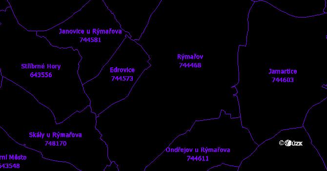 Katastrální mapa Rýmařov