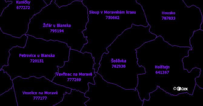 Katastrální mapa Sloup