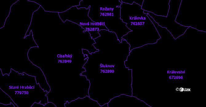Katastrální mapa Šluknov