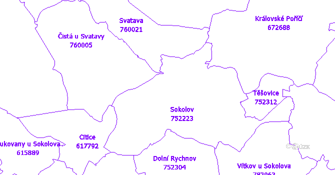 Katastrální mapa Sokolov