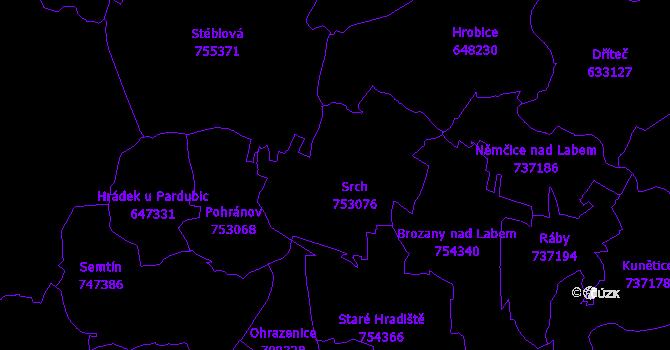 Katastrální mapa Srch