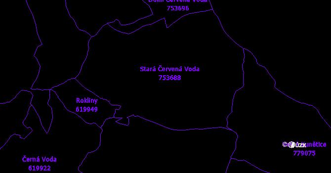 Katastrální mapa Stará Červená Voda