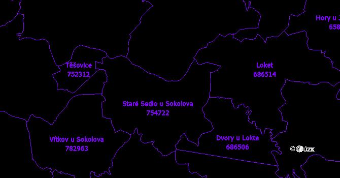 Katastrální mapa Staré Sedlo