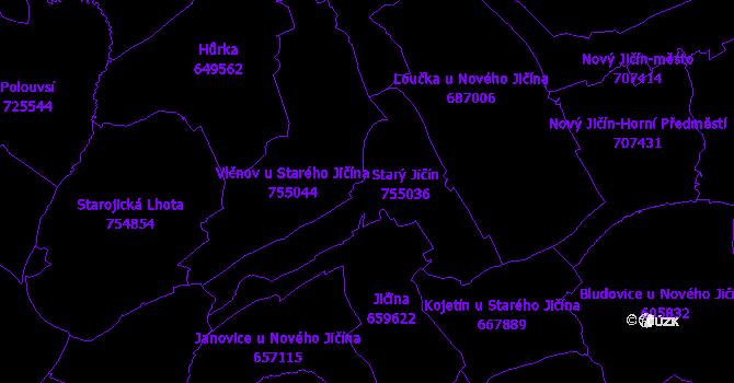 Katastrální mapa Starý Jičín