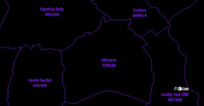 Katastrální mapa Stonava