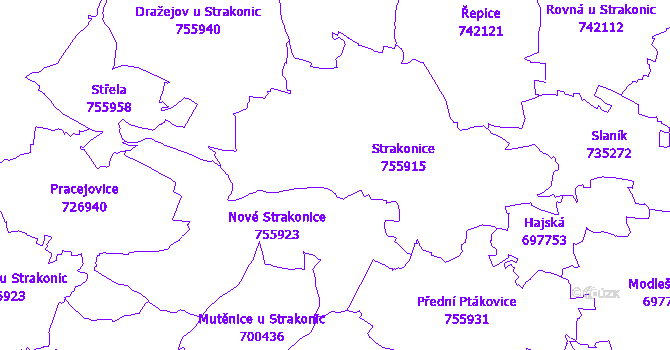 Katastrální mapa Strakonice
