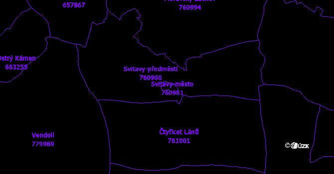 Katastrální mapa Svitavy