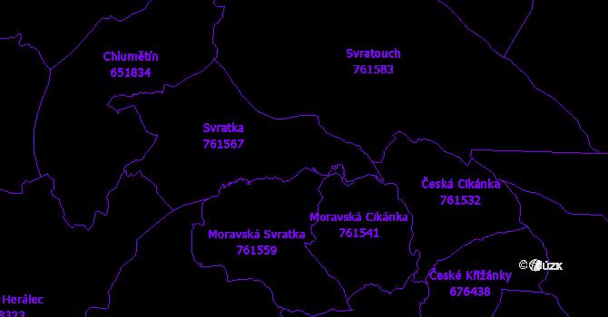 Katastrální mapa Svratka