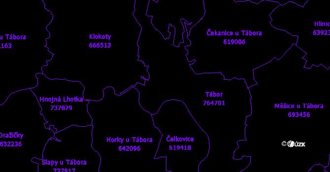 Katastrální mapa Tábor