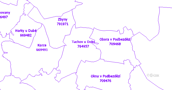 Katastrální mapa Tachov