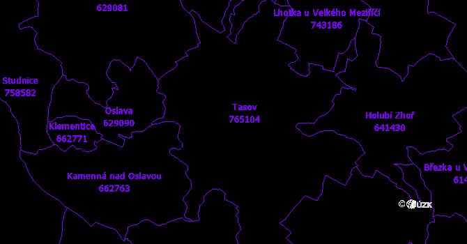 Katastrální mapa Tasov