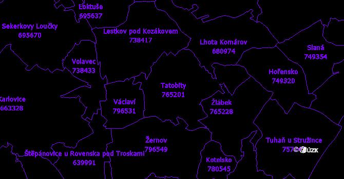 Katastrální mapa Tatobity