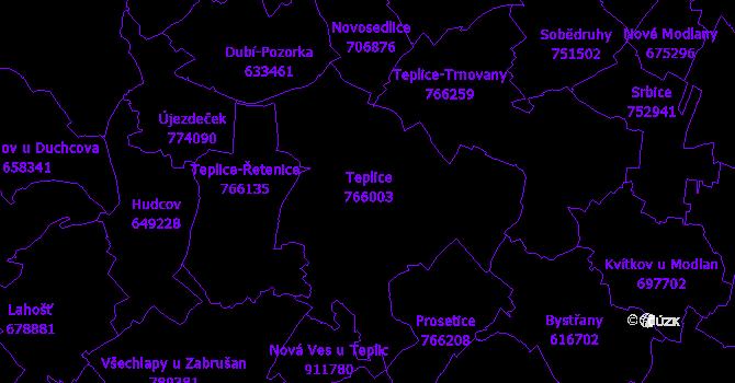 Katastrální mapa Teplice