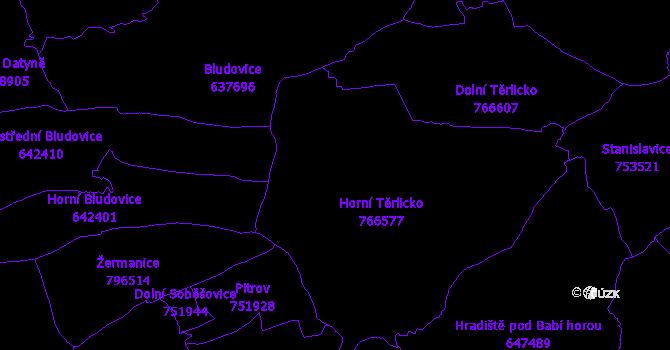 Katastrální mapa Těrlicko
